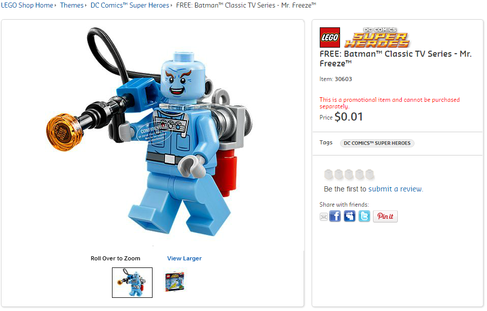 LEGO Batman Mr Freeze