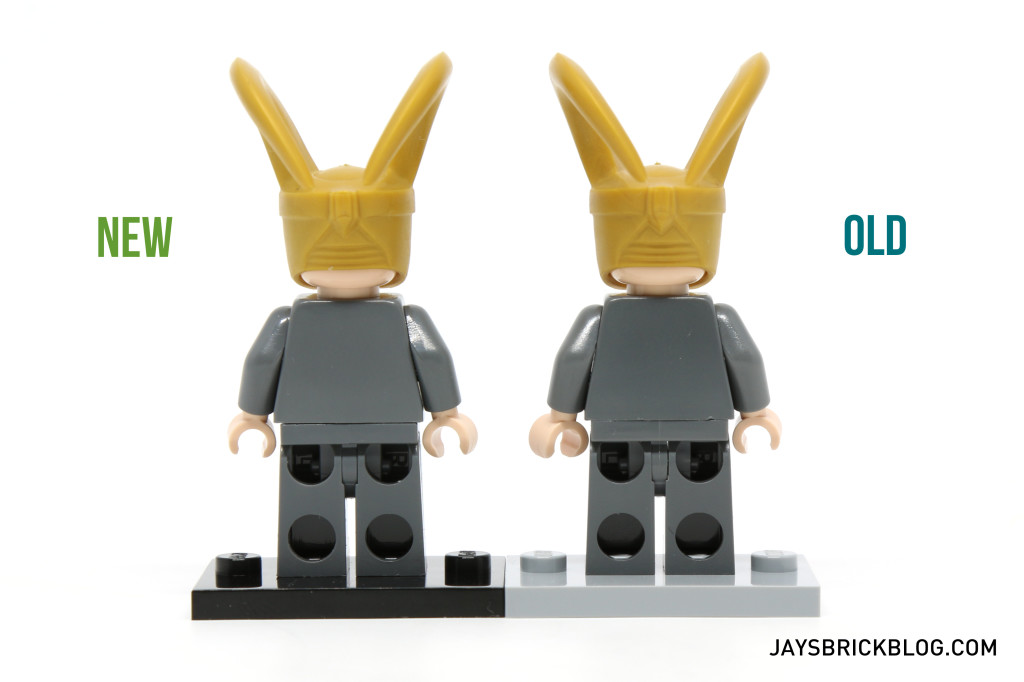 Loki 6868 and 10721 Minifigure Comparison - Back View