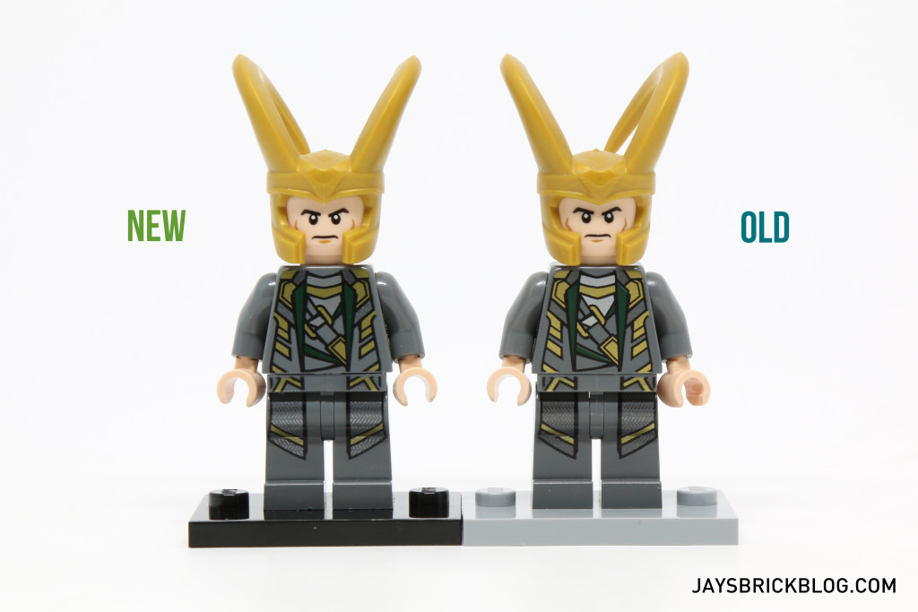 Loki 6868 and 10721 Minifigure Comparison - Front View