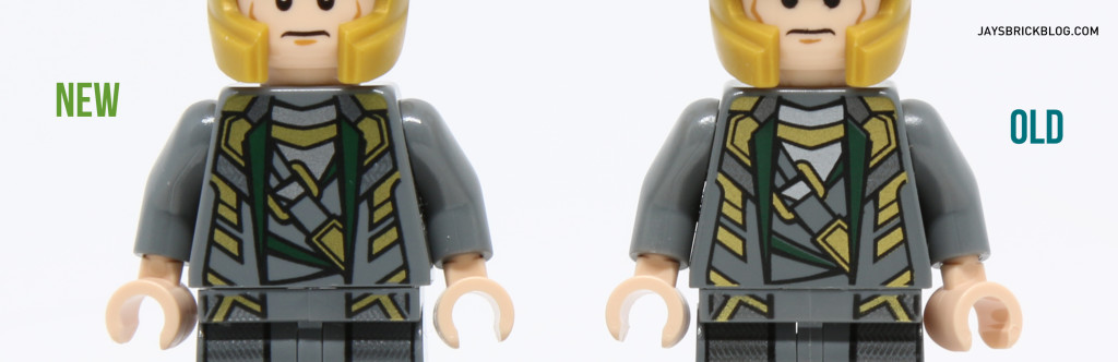 Loki 6868 and 10721 Minifigure Comparison - Torso Printing