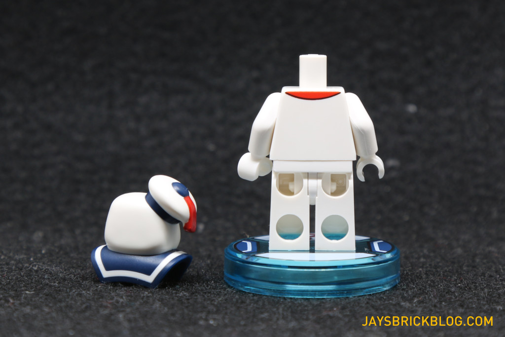 71233 LEGO Dimensions Stay Puft Marshmallow Man Minifig Back