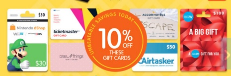Big W Gift Card Sale March 2016