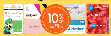 Big W Gift Card Sale March 2016
