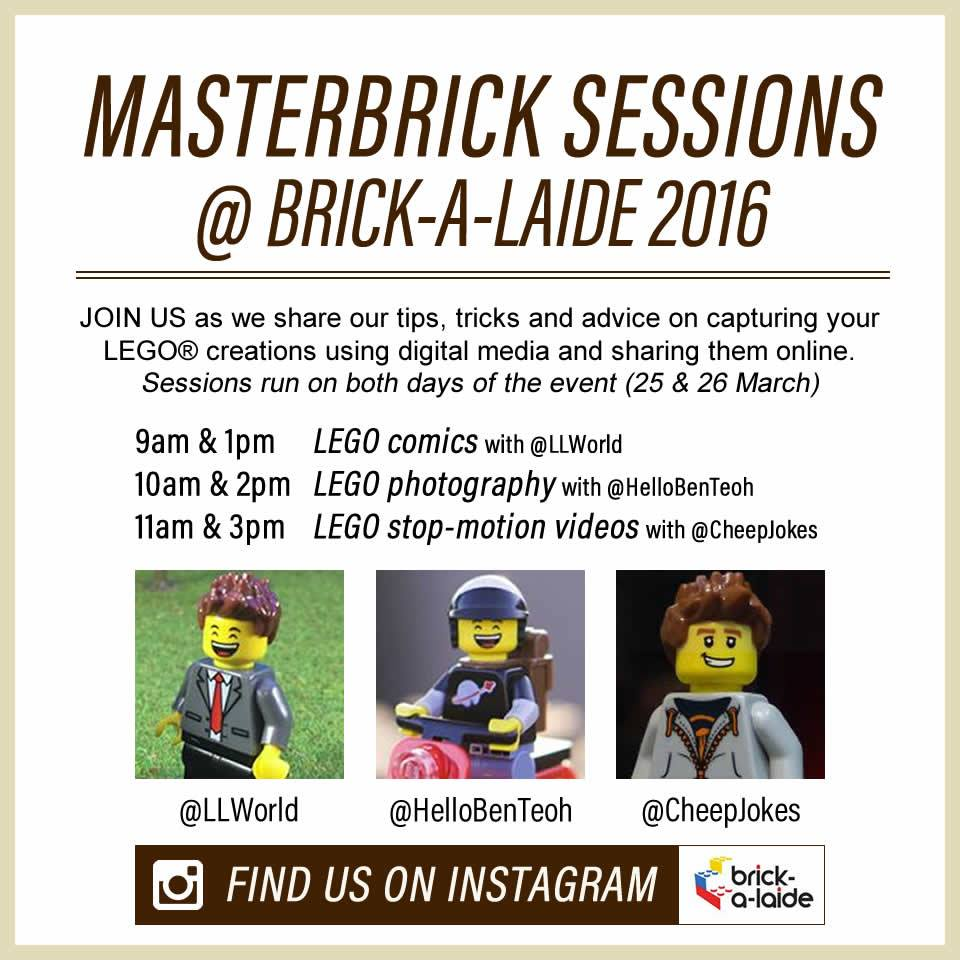 Brick-A-Laide 2016 Master Brick Sessions