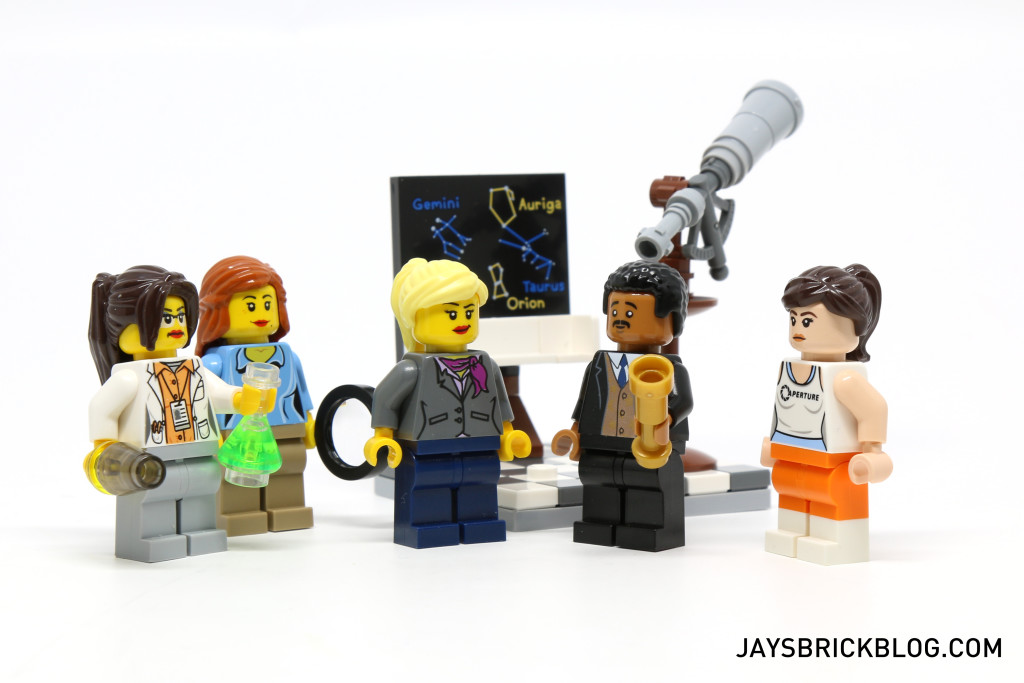 Citizen Brick Space Enthusiast with LEGO Scientists