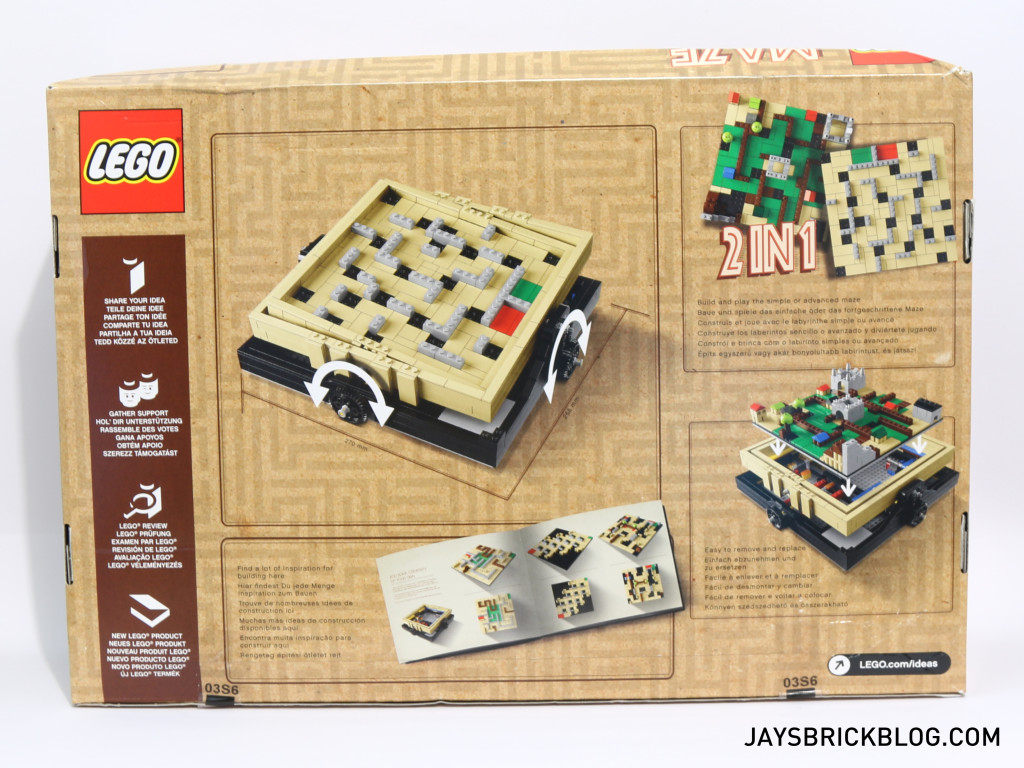 LEGO 21305 Ideas Maze - Box Art Back