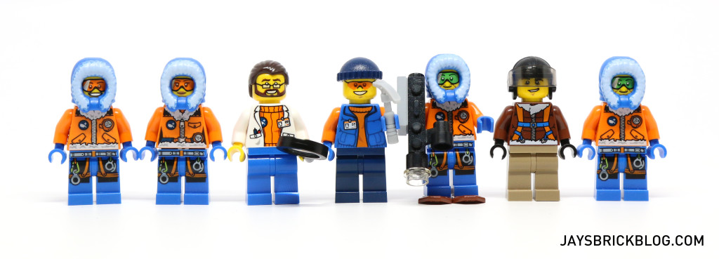LEGO 60036 Arctic Base Camp - Minifigures