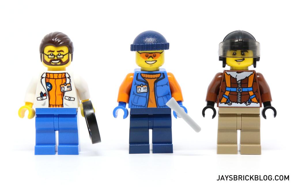LEGO 60036 Arctic Base Camp - Scientist Pilot Minifigures
