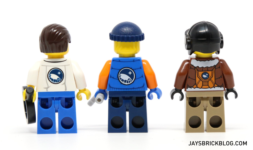 LEGO 60036 Arctic Base Camp - Scientist Pilot MinifiguresBack Printing