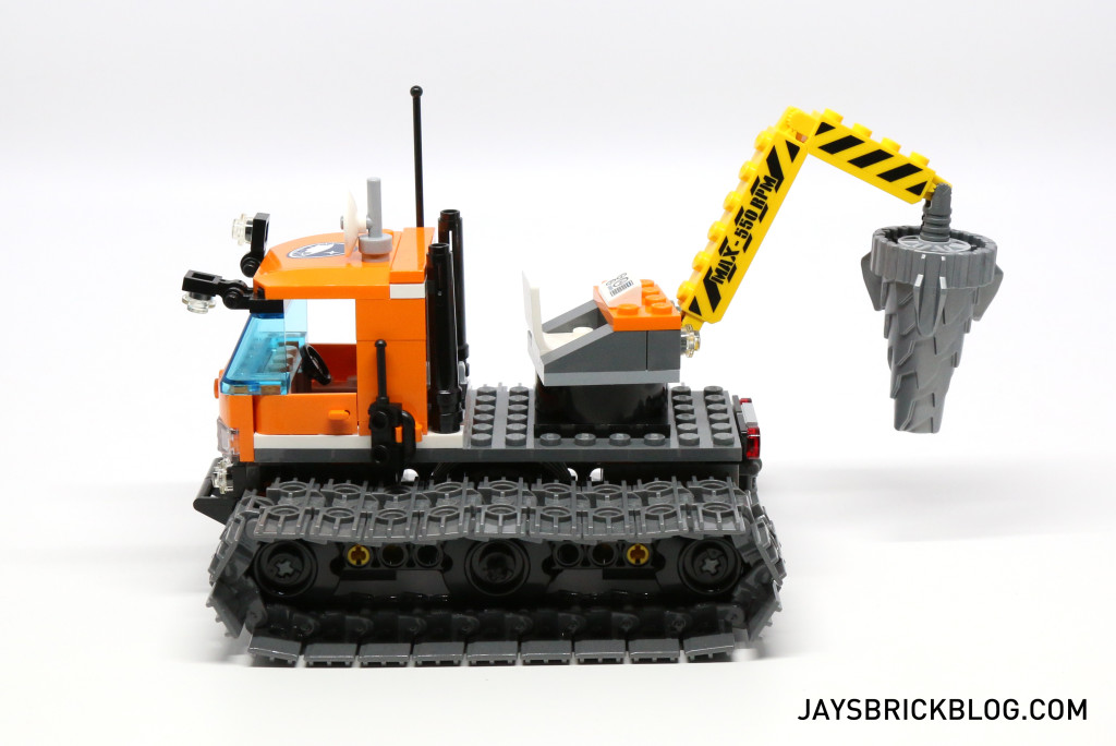 LEGO 60036 Arctic Base Camp - Tracked Exploration Vehicle Side View