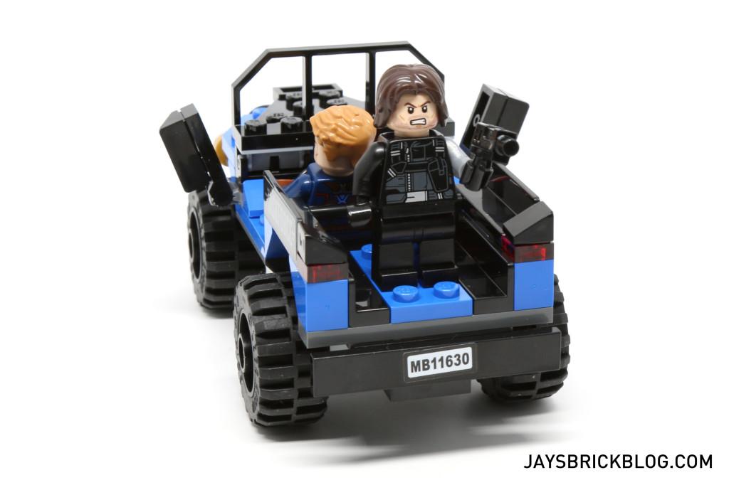 `LEGO 76047 Black Panther Pursuit - 4x4 Back View