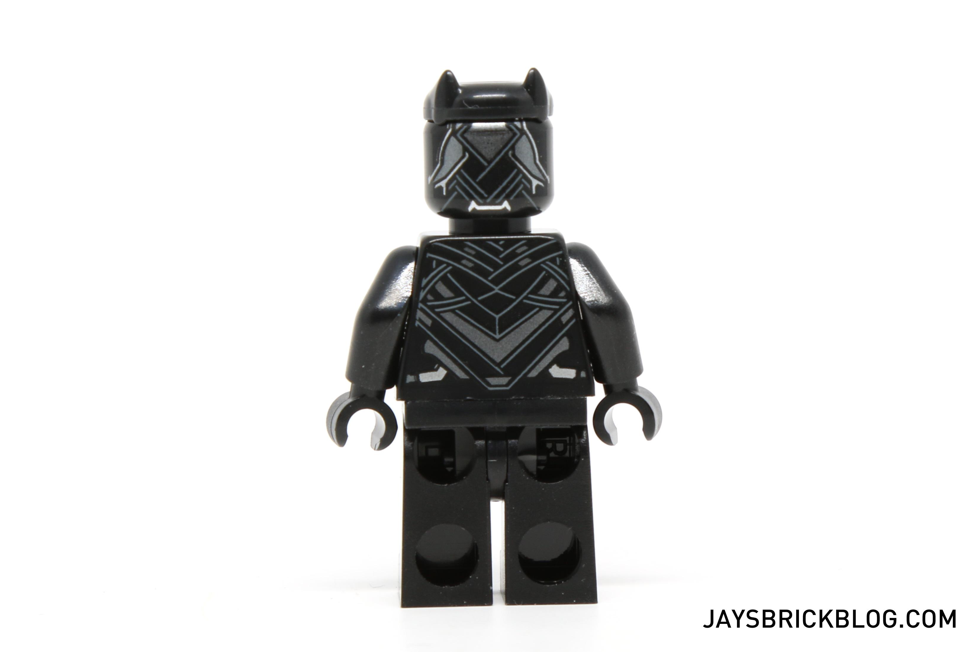 Lego 76047 black panther pursuit black panther minifig back