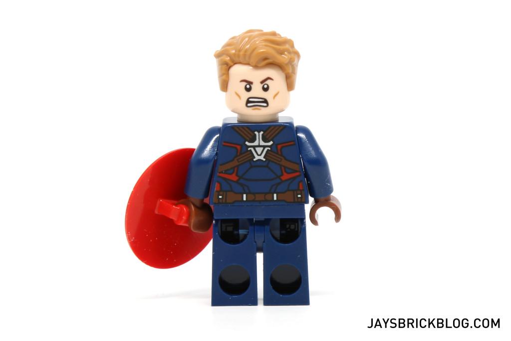 LEGO 76047 Black Panther Pursuit - Captain America Minifig Back