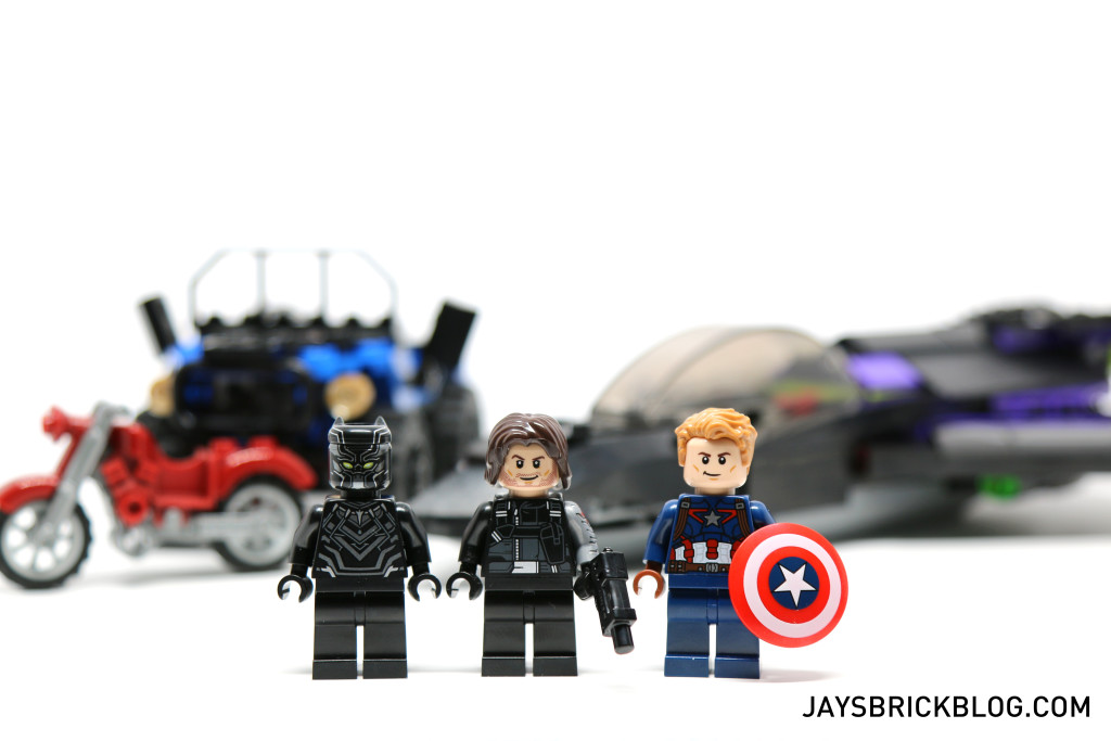 LEGO 76047 Black Panther Pursuit - Minifigures Black Panther, Captain America, Winter Soldier