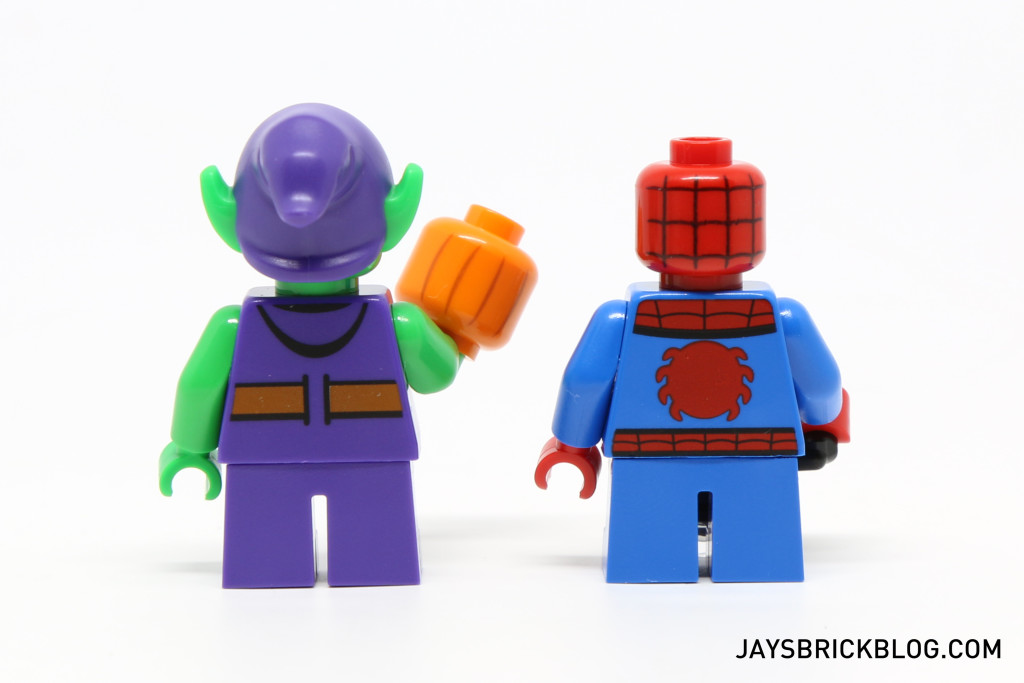 LEGO 76064 Spider-Man vs. Green Goblin - Minifigures Back Printing