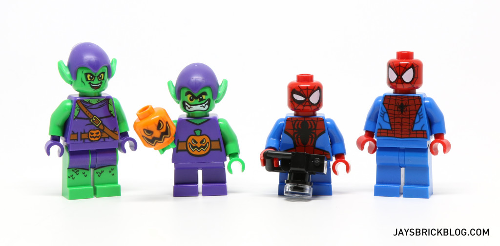 LEGO 76064 Spider-Man vs. Green Goblin - Minifigures Comparison