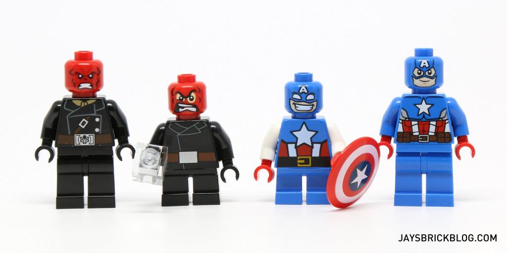 LEGO 76065 Captain America vs Red Skull - Minifigure Comparison