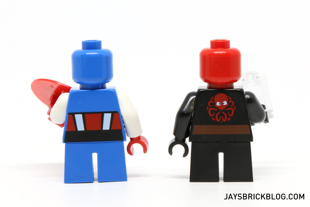 LEGO 76065 Captain America vs Red Skull - Minifigures Back Printing'