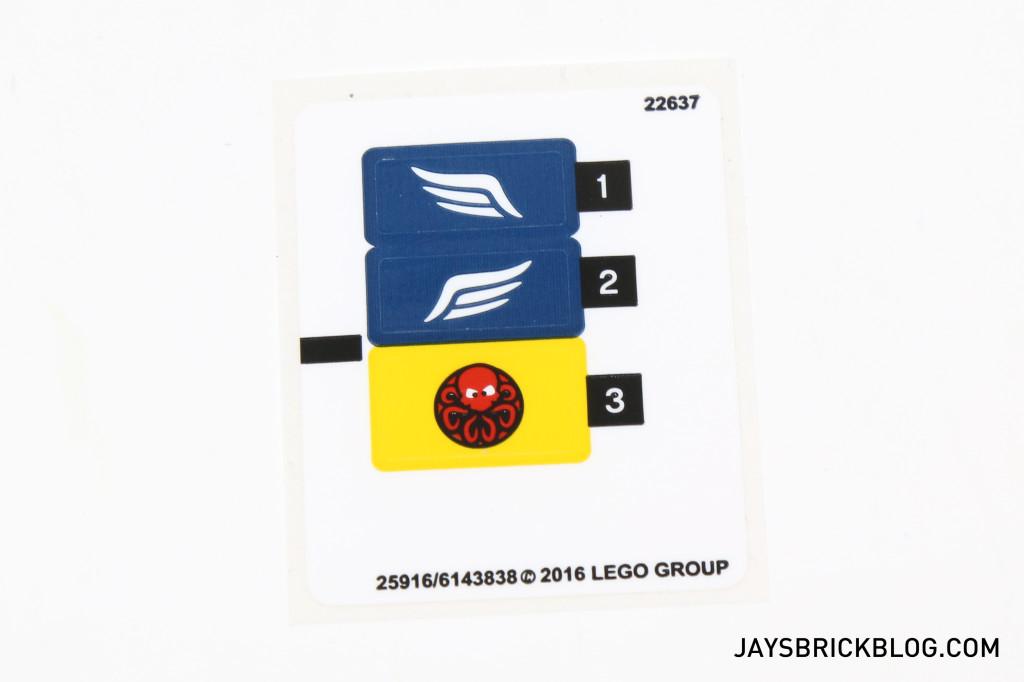 LEGO 76065 Captain America vs Red Skull - Sticker Sheet