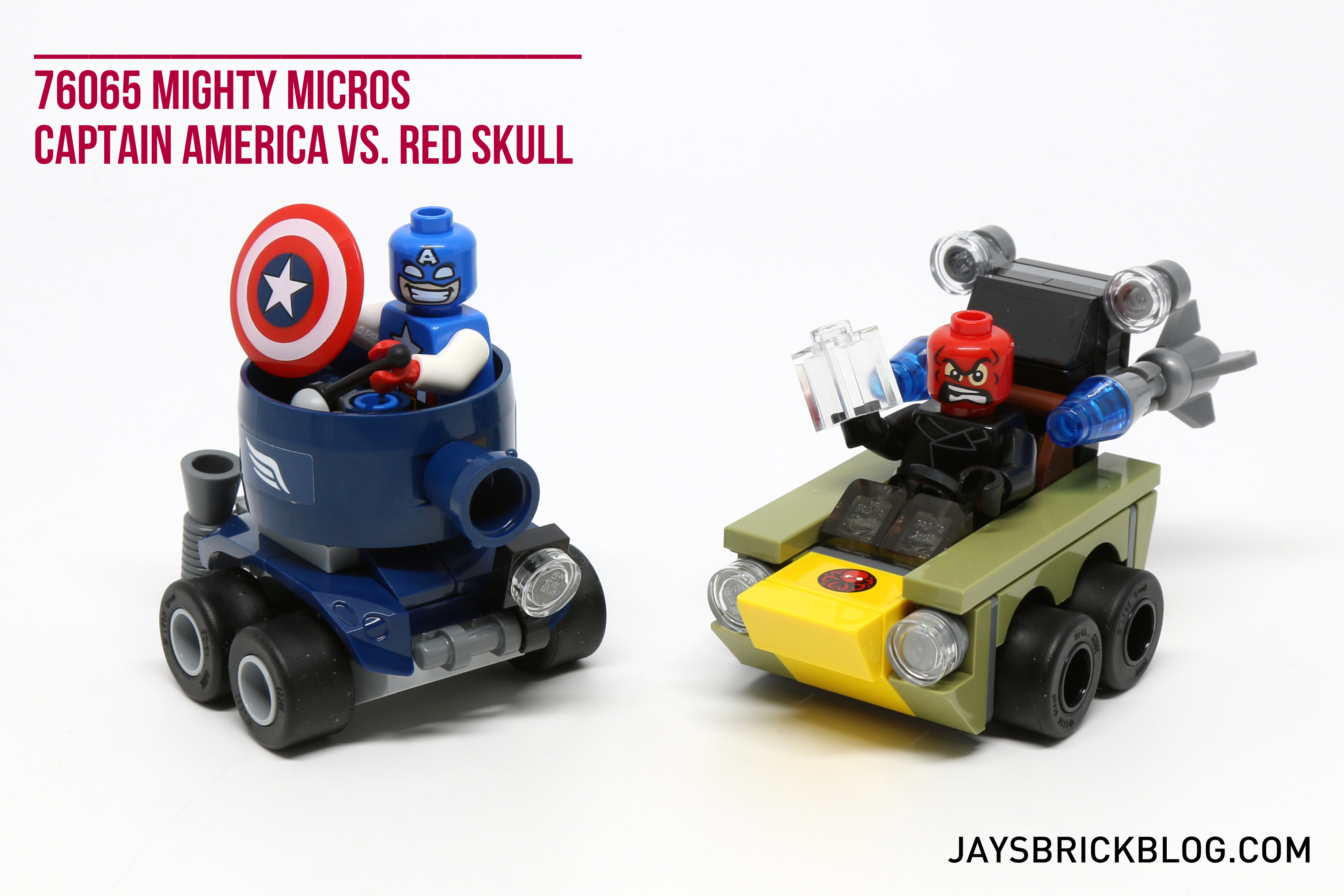 red skull LEGO ® super heroes//76065 Mighty micros voiture//car//Capitaine America vs