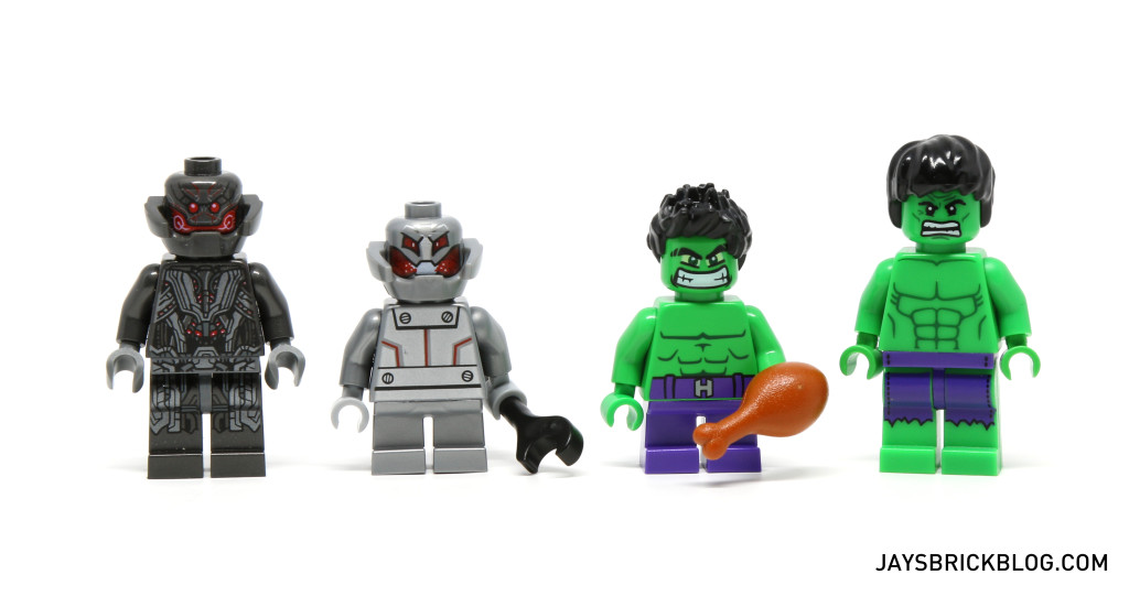 LEGO 76066 Hulk vs. Ultron - Minifigure Comparison
