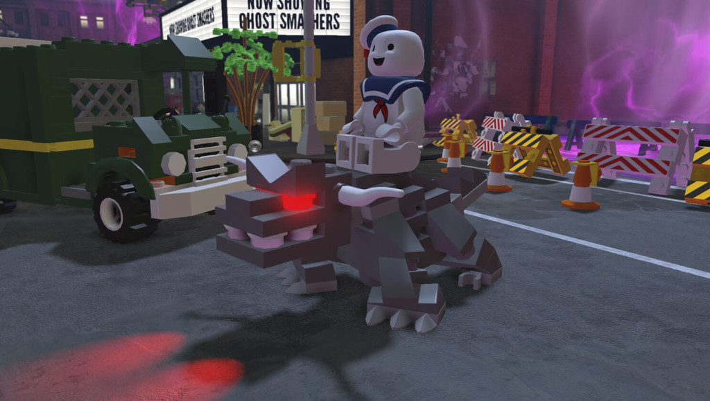 LEGO Dimensions Stay Puft Marshmallow Man In Game