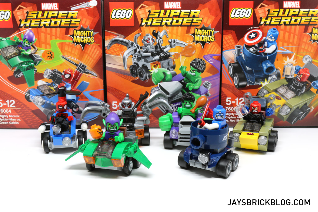 Review: LEGO Marvel Mighty Micros (76064, 76065, 76066)