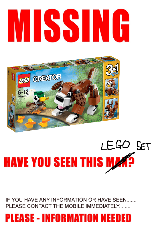 LEGO Missing Poster