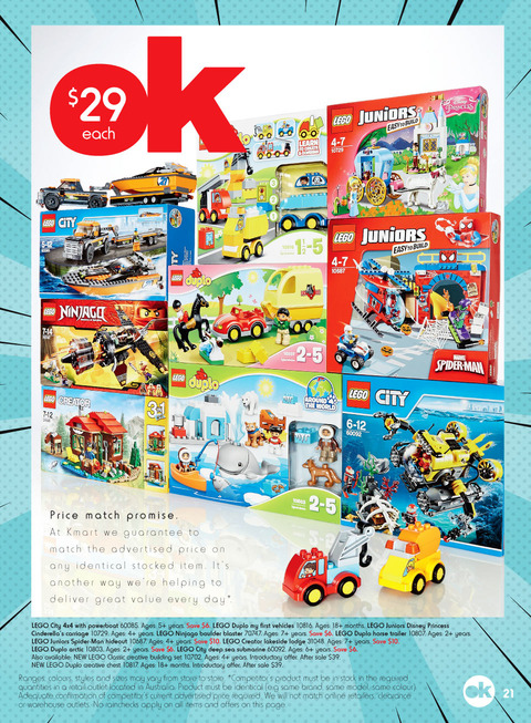 LEGO Sale Kmart March 2016