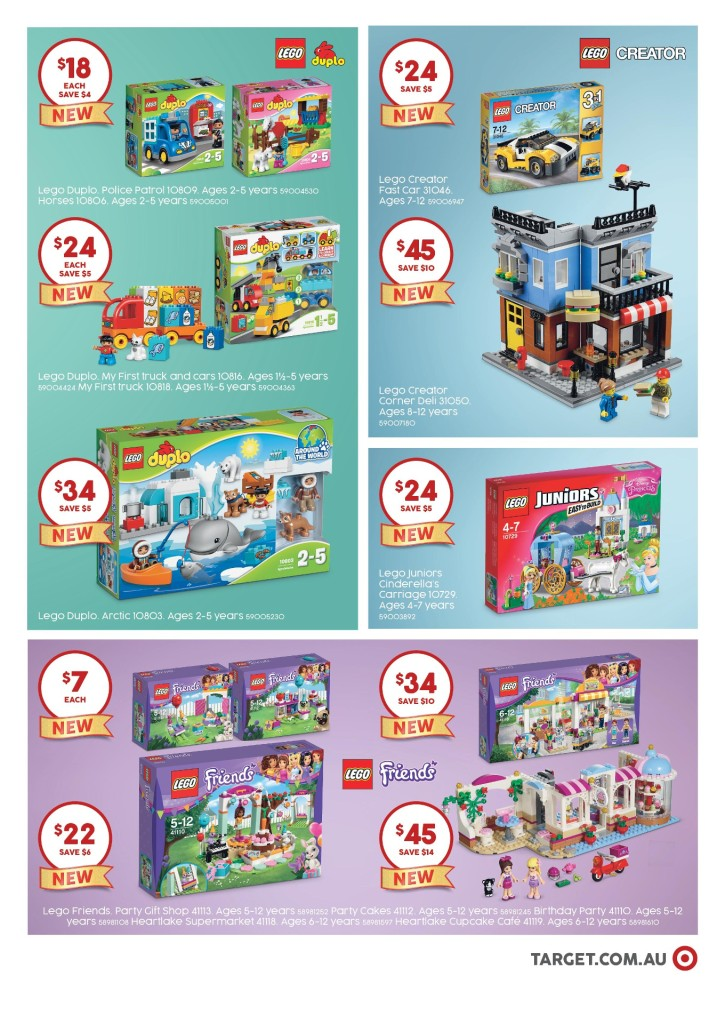 Target LEGO Catalogue March 2016