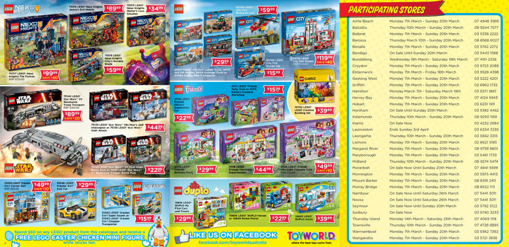 Toyworld LEGO Catalogue March 2016