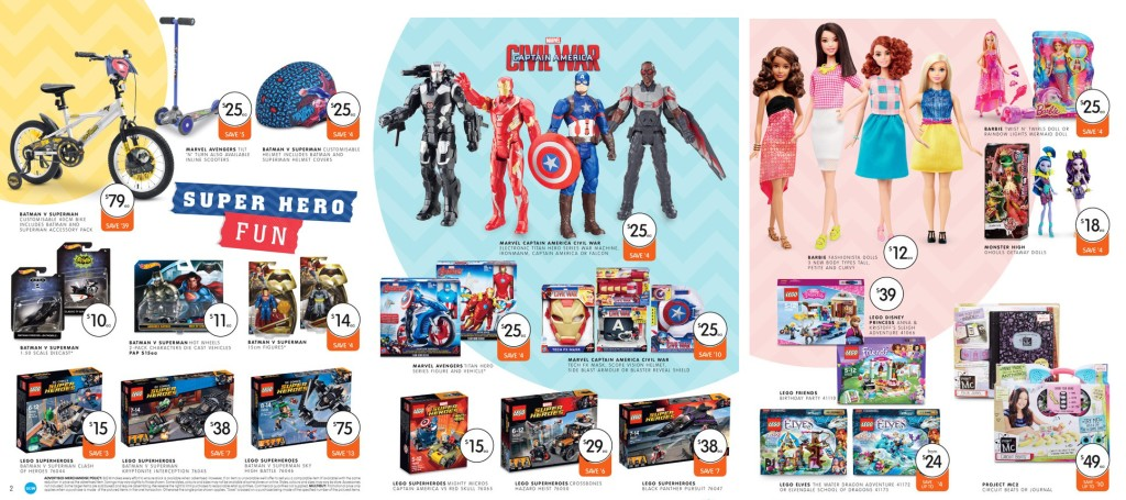 Big W LEGO Sale April 2016