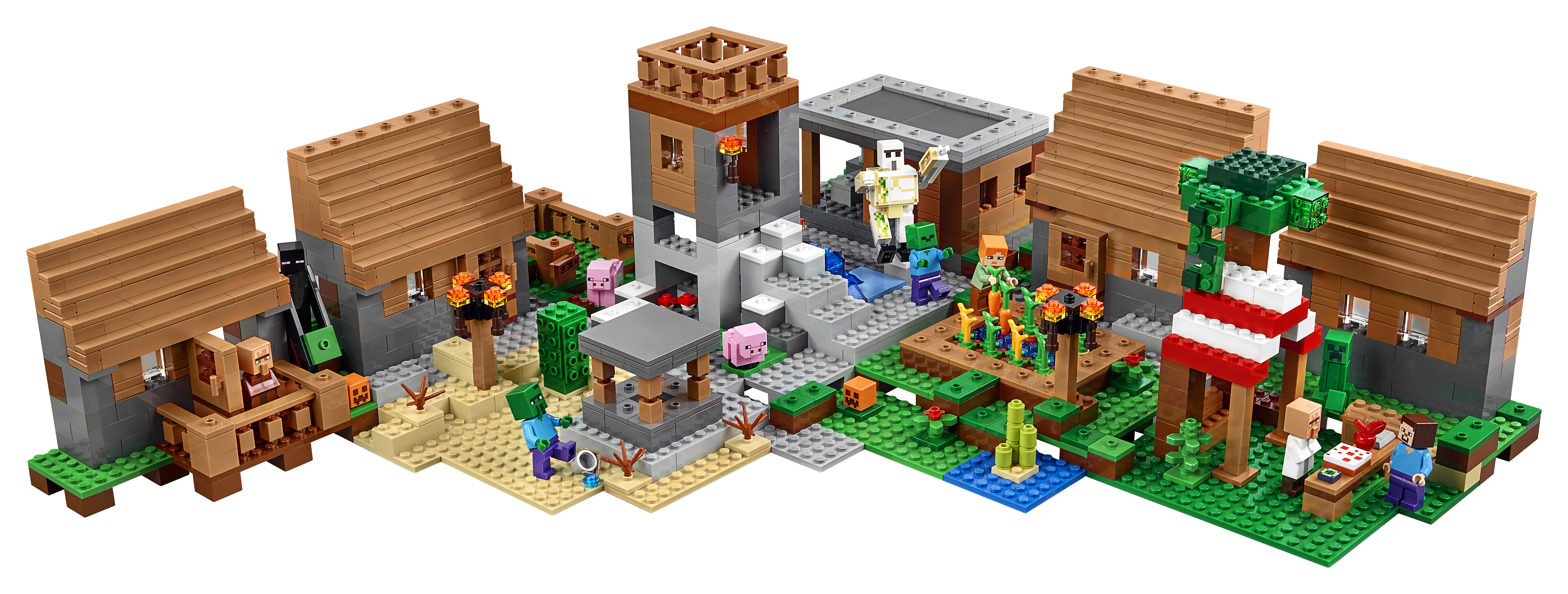 LEGO 21128 Minecraft The Village   Alternate Layout
