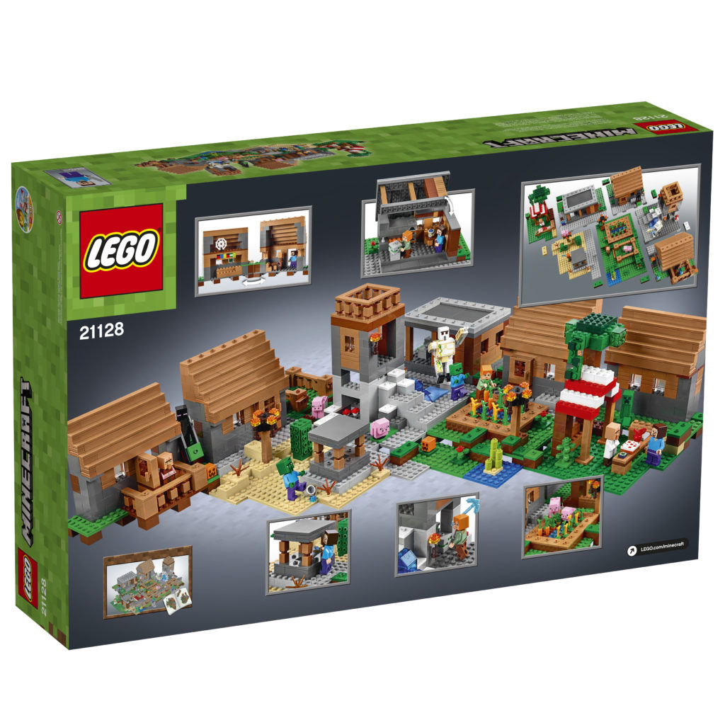 LEGO 21128 Minecraft The Village - Box Back