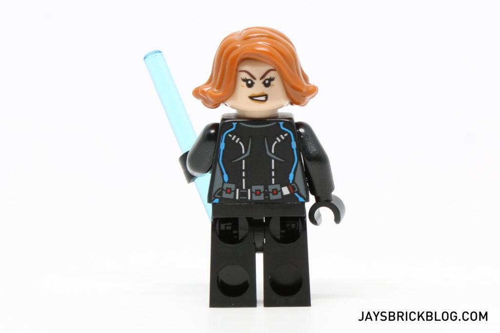 LEGO 76050 Crossbones Hazard Heist - Black Widow Minifig Back Printing