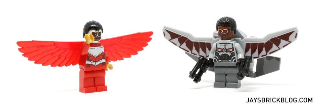 LEGO 76050 Crossbones Hazard Heist - Falcon Minifig Comparison