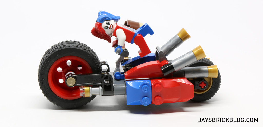 LEGO 76053 Gotham City Cycle Chase - Harley Quinn Bike Side View