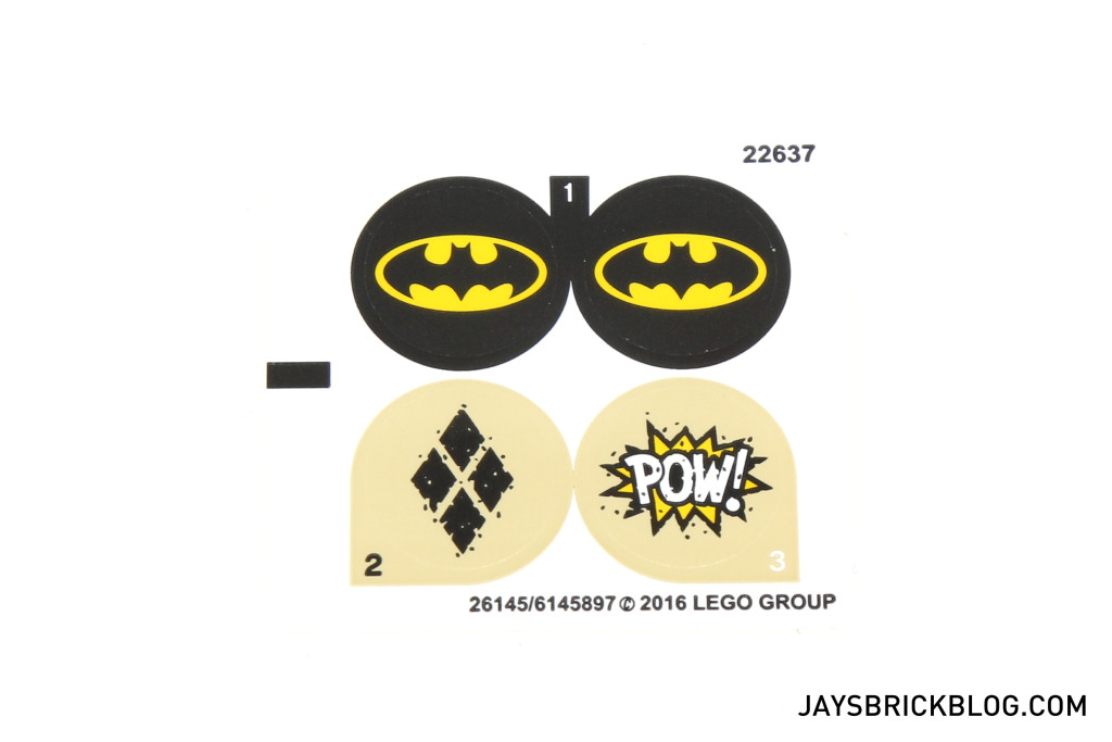 LEGO 76053 Gotham City Cycle Chase - Sticker Sheet