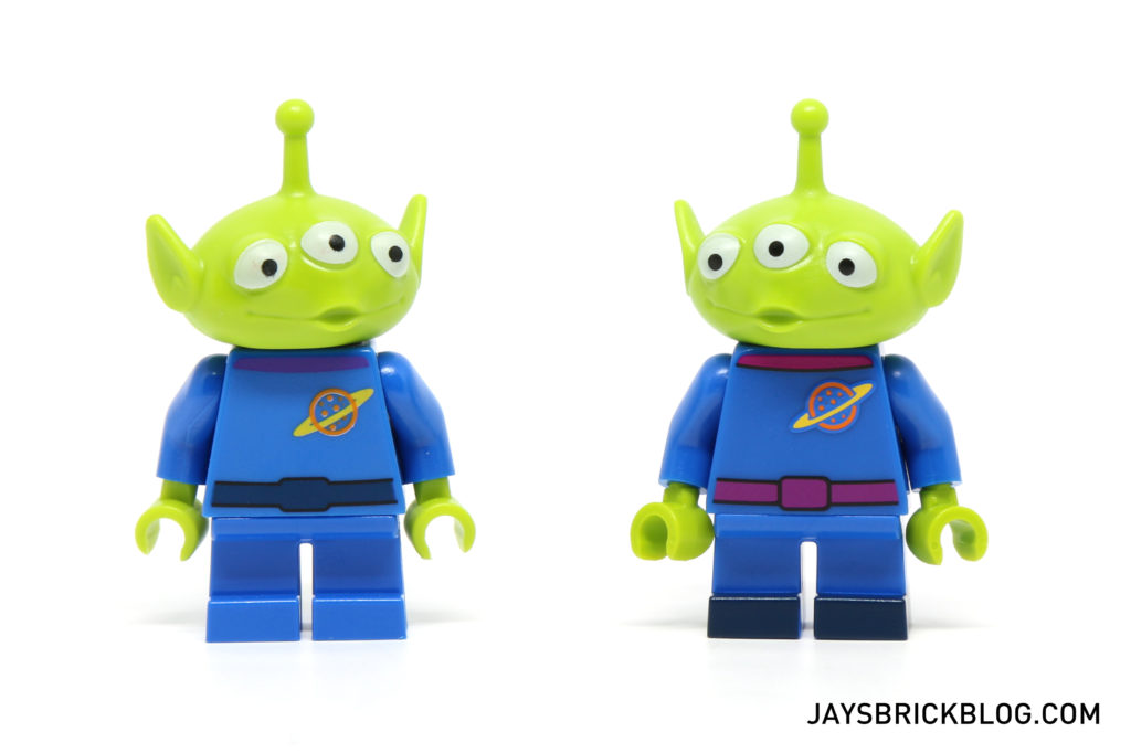 LEGO Disney Minifigures - Alien Minifig Comparison
