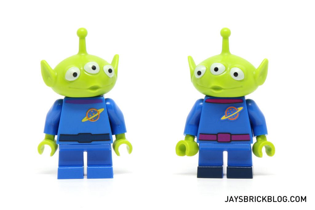 LEGO Disney Minifigures - Alien Minifig Comparison