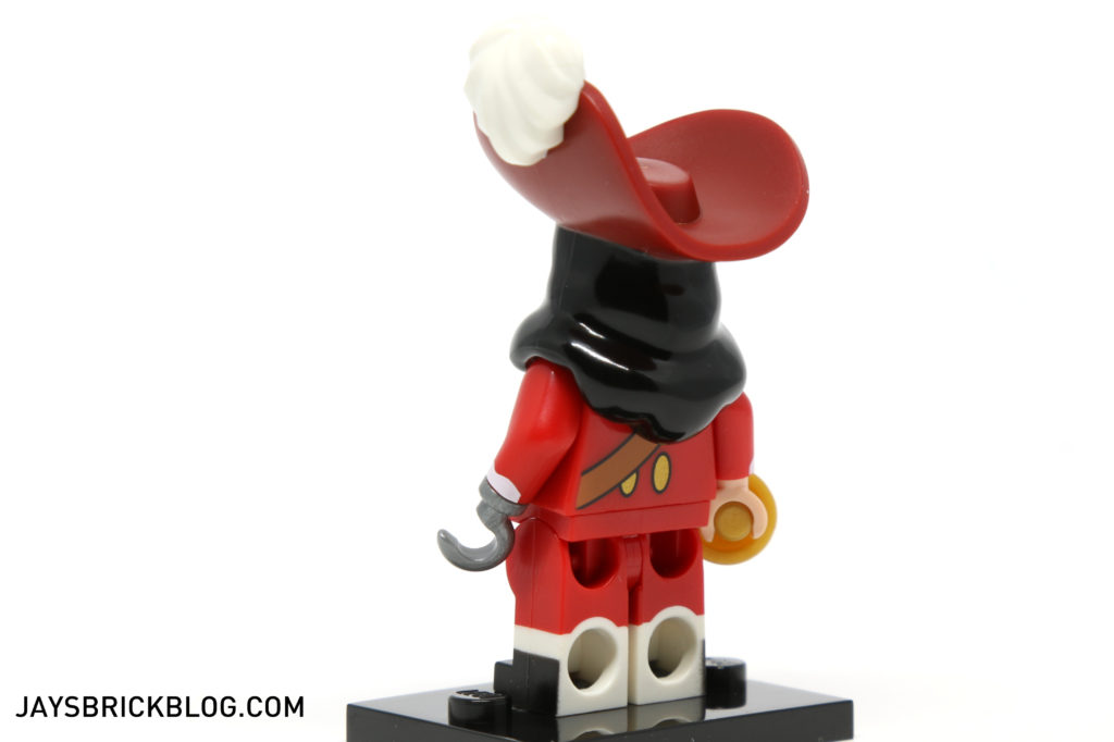 LEGO Disney Minifigures - Captain Hook Back Printing