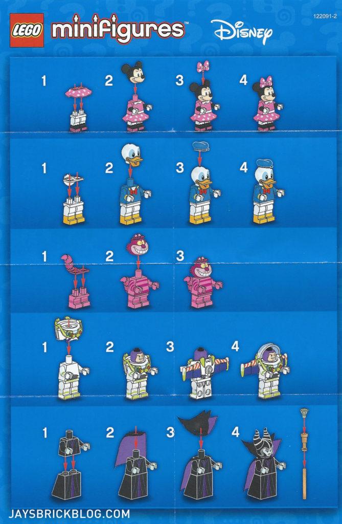 LEGO Disney Minifigures - Leaflet Instructions