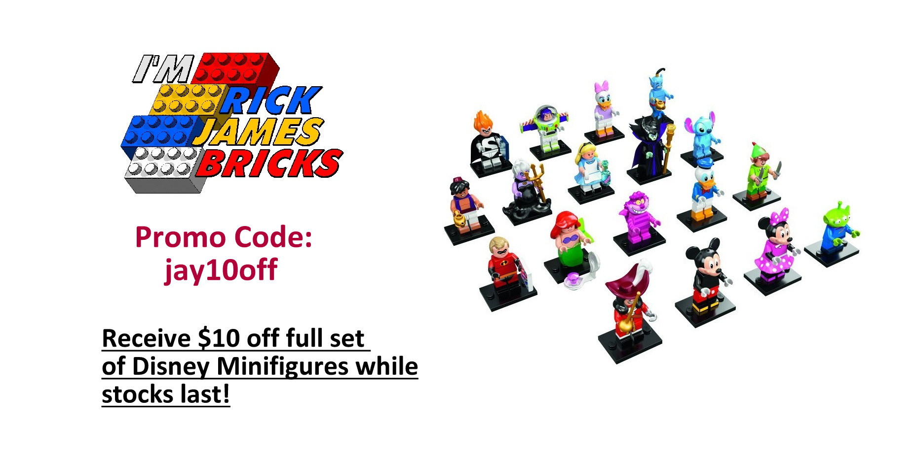 Sold out special offer 10 off full sets of lego disney minifigures - Houseplanscom discount code set ...