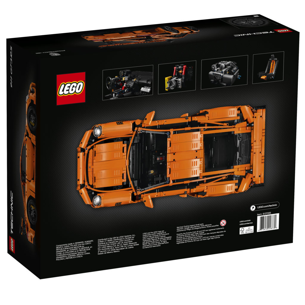 LEGO Technic 42056 Porsche 911 - Box Back View