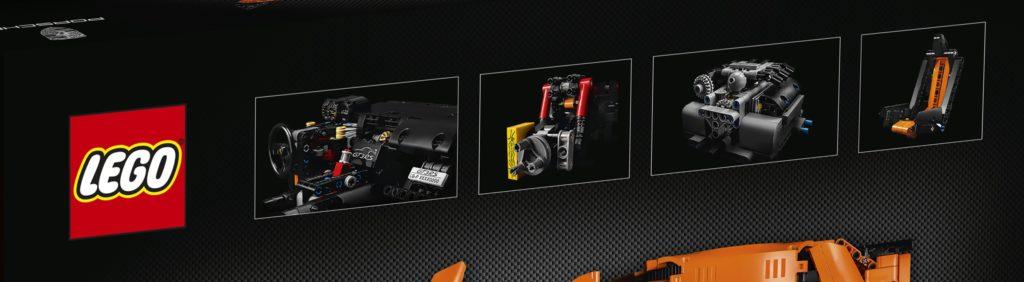 LEGO Technic 42056 Porsche 911 - Engine and Seat Details