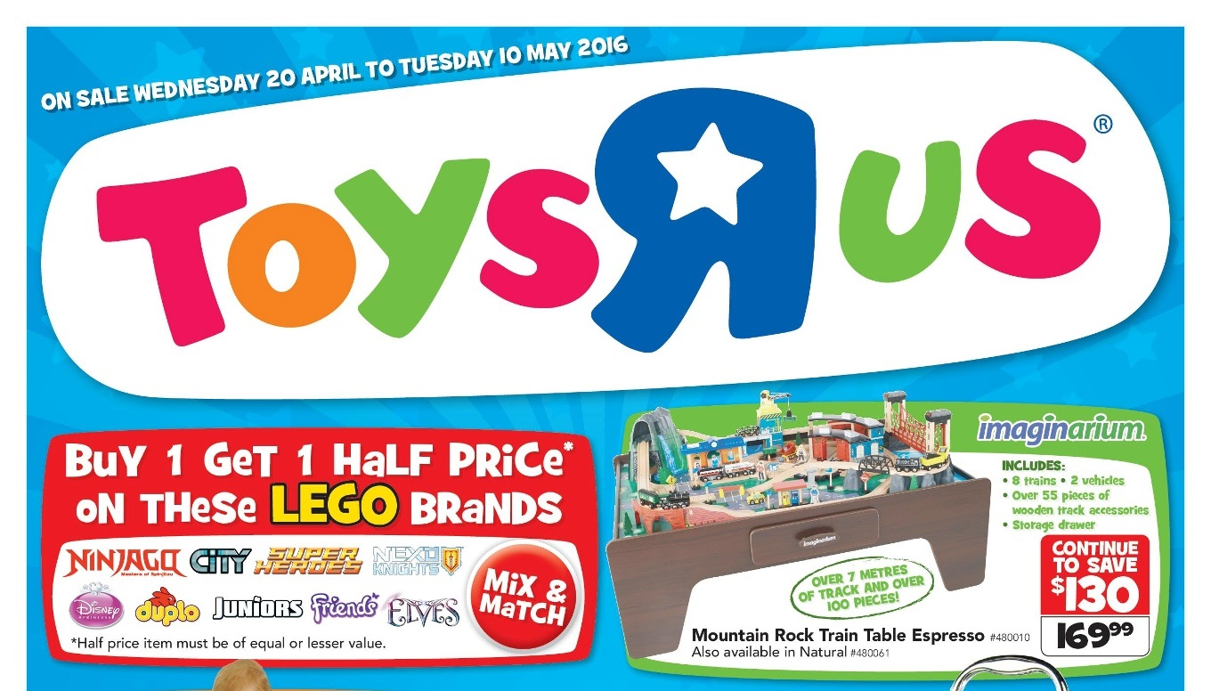 Australian lego sales april 2016 for 10 in 1 game table toys r us