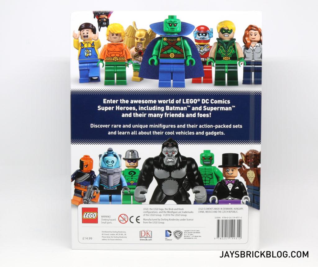 DK LEGO DC Comics Super Heroes Character Encyclopedia - Back