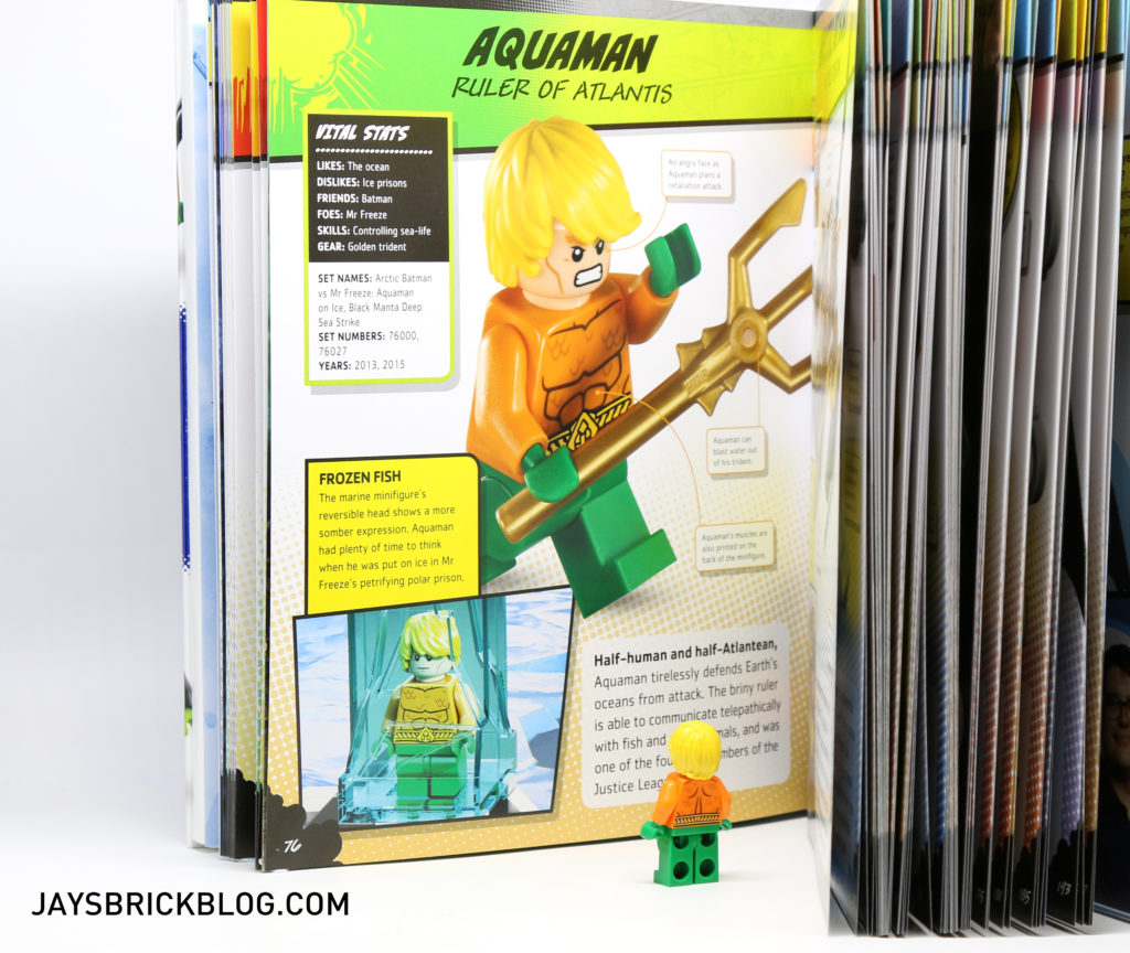 DK LEGO DC Comics Super Heroes Character Encyclopedia - Contents Aquaman Page