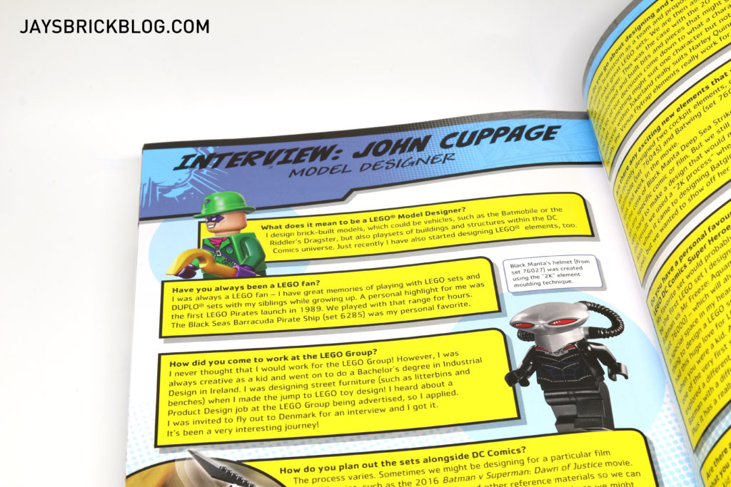 DK LEGO DC Comics Super Heroes Character Encyclopedia - Interview with John Cuppage