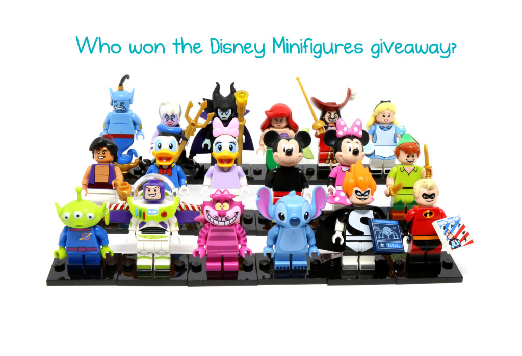 And the winner of the Disney Minifigures Giveaway is…